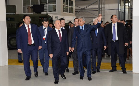 Opening of the plant with participation of the President of Kazakhstan