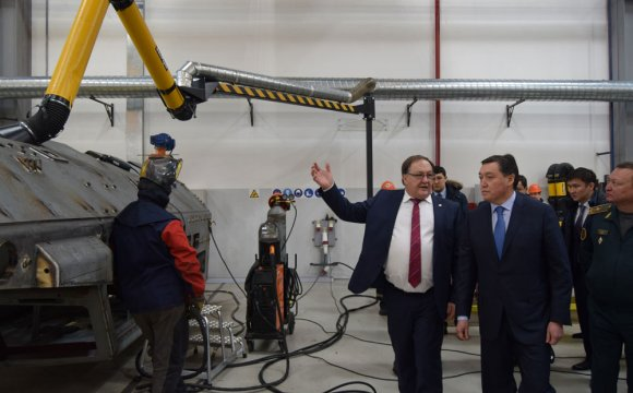 "The First Deputy Prime minister Mr. Askar Mamin has visited the plant of ""Kazakhstan Paramount Engineering"" LLP"