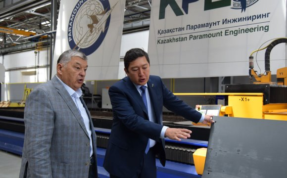 "Mukhtar Altynbayev , a national hero, visited ""Kazakhstan Paramount Engineering"" LLP"